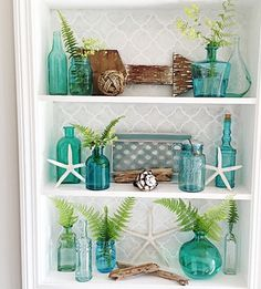 When decorating your beach home, come to my cute boards and get inspired with amazing coastal look ideas like this. Love this one!! #Maristella890