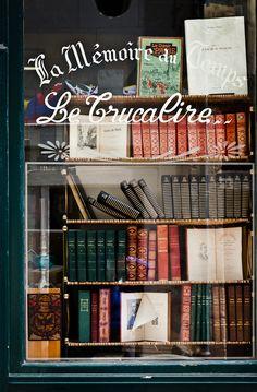 Antique Bookstore, Loches, France  photo via ali