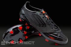 adidas Football Boots - adidas F50 adizero TRX FG Leather - Firm Ground - Soccer Cleats -Black-Black-Infrared