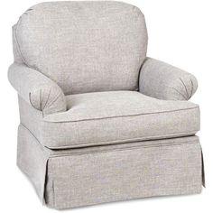1550SG PARADIGM/QURZ Quartz Beige Swivel Glider Accent Chair   Heather