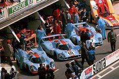 """coffeebreakexpresso: """" #Gulf Porsche 917 / Le Mans 1971 """""""