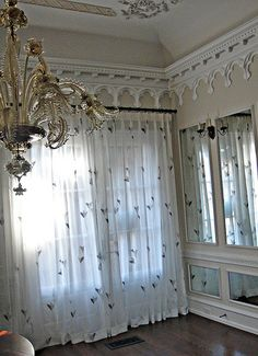 Sheer draperies furnished and installed by Kite's Interiors