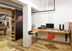 Amazing work space!   [ Wainscotingamerica.com ] #office #wainscoting #design