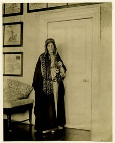 May Morris in Cairo after the death of her father, William Morris