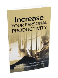 Increase Your Personal Productivity Sales Funnel with Master Resell Rights Finally! Discover the Secrets for Increasing Your Personal Productivity and Getting More Done in Less Time Improve Yourself, Finding Yourself, Find Your Why, Learn From Your Mistakes, Lack Of Motivation, Time Management Skills, One Wish, Yoga At Home, Core Values