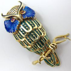 Vintage-14k-owl-brooch-plique-a-jour