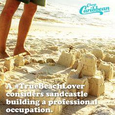 #TrueBeachLovers prefer custom-built homes, especially when they're custom-built using sand. #CheapCaribbean #TrueBeachLover #SandCastle #Beach
