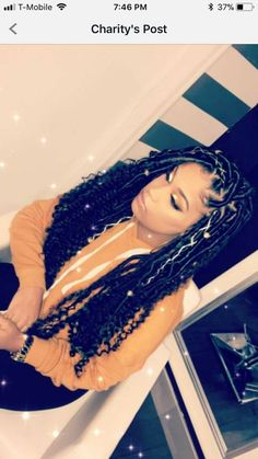 Celebrities and Their Hair Braids Faux Locs Hairstyles, Dope Hairstyles, My Hairstyle, Black Girls Hairstyles, Braided Hairstyles For Black Hair, American Hairstyles, Black Girl Braids, Braids For Black Hair, Girls Braids