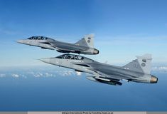 South African Air Force Gripen Fighters in flight. Air Fighter, Fighter Jets, Saab Jas 39 Gripen, South African Air Force, Battle Rifle, Fighter Aircraft, War Machine, Armed Forces, Military Aircraft