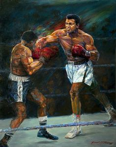 Jace McTier Boxing and Sporting Art Boxing Posters, Boxing Quotes, Muhammad Ali Boxing, Black Art Pictures, Sports Pictures, Float Like A Butterfly, Legends And Myths, Action Poses, Sports Art