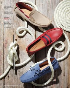 Spring Style Essentials for the Seafaring Man (via enRoute magazine). Styling by Daniel Onori. Photo by Luis Albuquerque. Fashion Still Life, Shoes Ads, Men's Shoes, Women's Boat Shoes, Footwear Shoes, Still Life Photography, Fashion Photography, Object Photography, Product Photography