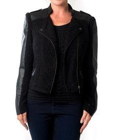 Another great find on #zulily! Black Moto Jacket #zulilyfinds