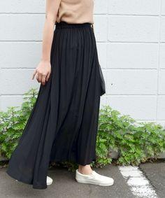 Khaju(カージュ)のKhaju: リラックスマキシスカート□(スカート)|ブラック