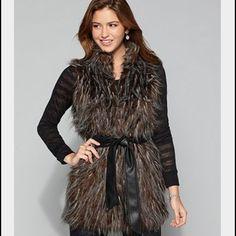 Buckle Faux Fur Boho Vest Buckle Me Jane Faux Fur Boho Vest w/ Faux Leather Vegan Belt. Perfect condition! No flaws! Size Small. Buckle Jackets & Coats Vests