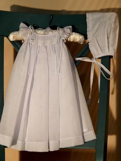 White Christening Gown  Christening dress Blessing by SUMACLOTHES