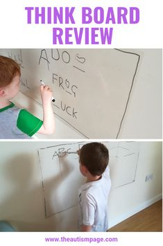 The Think Board is a stick on whiteboard.  I find it really hard to get my kids to do mark making and writing practice but they both really loved using the Think Board.  I think they liked being able to write on the wall.  Find out more in this review #gifted #ad