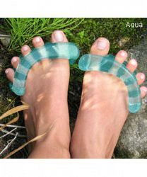 YogaToes work while you relax to stretch, strengthen, and align foot muscles, while your nails dry!