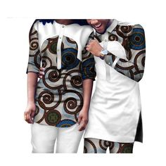 Dashiki African Clothing Matching Style for Couple Men and Women Top-Pants Sets Couples African Outfits, African Dresses Men, African Attire For Men, African Shirts, Latest African Fashion Dresses, African Men Fashion, Africa Fashion, African Wear, African Beauty