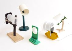 ready-made iphone charging dock lamps by raw edges studio - designboom | architecture & design magazine