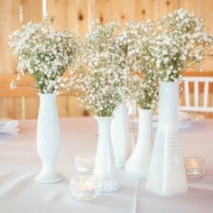 I LOVE MILK vases so much - -and have tons -- can't wait to do this look. I have used with floral pops too - but not with bb yet! AND who will let me do this look -- i want to