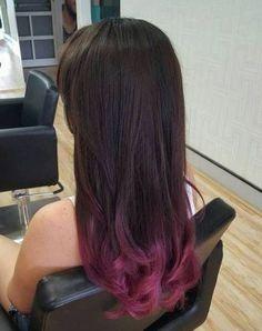 62 Ideas For Hair Color Balayage Burgundy Brown Dip Dye Black Hair, Black Hair Ombre, Ombre Hair Color, Hair Color Balayage, Hair Highlights, Pink Hair, Ombre Brown, Pastel Highlights, Brown Highlights