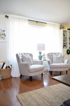 All About Our Family Room And Dining Room Curtains+ Ikea Vivan Review