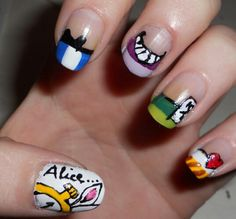 Alice and wonderland nails xx