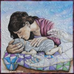 Surrender by Maria Elkins If you get a chance, click through and read the story behind this quilt.. Very moving