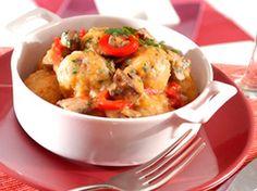 Albóndigas de pavo con champiñones y pimientos ¡como las de tu madre! ;) Potato Salad, Mashed Potatoes, Curry, Meat, Chicken, Ethnic Recipes, Food, Gastronomia, Egg Wash