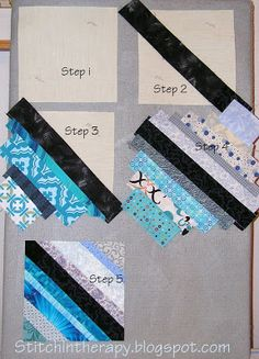 Stitchin' Therapy: Doing the string thingYou can find String quilts and more on our website.Stitchin' Therapy: Doing the string thing Quilting Tips, Quilting Tutorials, Machine Quilting, Quilting Designs, Crazy Quilt Tutorials, Quilting Projects, Colchas Quilt, Scrappy Quilts, Quilt Blocks