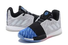 2abc2b54dab adidas Harden Vol. 3 Grey Black-Blue Men s Shoes-2 Baby Shoes