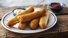 American Cuisine for the Olympics: Corn dogs