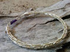 Dragon Tamer Amethys Silver Bracelet Artisan by SweetMintBoutique, $54.00