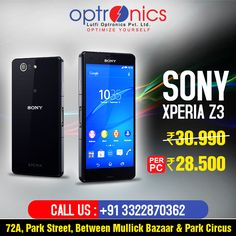 Get Special Offer on SONY XPERIA Z3  Showroom Venue: 72A, PARK STREET, Between Mullick Bazaar & Park Circus For any query Call Us at: +91 3322870362