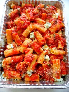 PROUD ITALIAN COOK: Baked Rigatoni - good dish to take to a family.