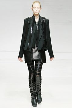 Collection # 03   FW09 Rad Hourani, slit cut leather
