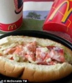 Popular in Canada, the lobster sub is diced lobster in a thousand island-style sauce, served in a soft roll.