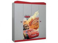 Guarda-roupa Infantil 4 Portas 2 Gavetas - Pura Magia Disney Carros Star com as melhores condições você encontra no Magazine Etukadigital. Confira!