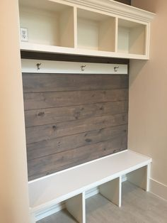For the Home 68 Super ideas laundry room organization garage entrance How to build a G Mudroom Laundry Room, Laundry Room Organization, Bench Mudroom, Garage Laundry, Storage Organization, Mudroom Cubbies, Laundry Storage, Home Renovation, Home Remodeling