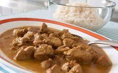 Filetto di maiale al curry e latte di cocco