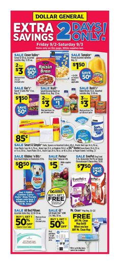 Dollar General 2Day Sale September 2 - 3, 2016 - http://www.olcatalog.com/grocery/dollar-general/dollar-general-circular.html