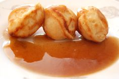 Aebleskivers (Danish Pancakes) with Spiced Apple Syrup