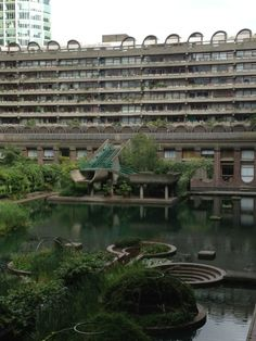 The Barbican Complex, one of the foremost examples of Brutalist Architecture, built over three decades in the 50s, 60s & 70s. Nowhere else in London quite like it.