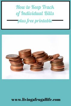 Are you looking for a free printable bill tracker? This individual bill tracker will help you track your bills as you pay them off. Includes a tutorial on how to track individual bills.