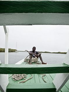 On deck, Pirogue, Lamin balong, The Gambia _6802