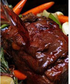 Beef Chuck Roast in Barolo Red Wine
