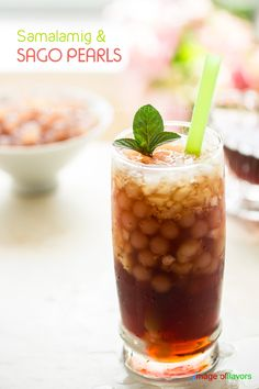 Samalamig & Sago Pearl Drink @wokwithray