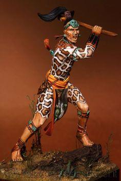 Maya Warrior | planetFigure | Miniatures