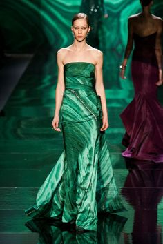 Monique Lhuillier Fall 2012 - Malachite