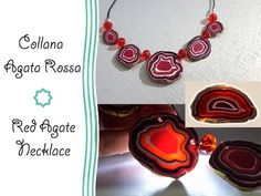 Polymer clay Tutorial: Collana Agata Rossa - Red Agate Necklace - YouTube